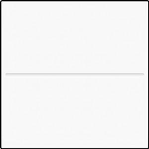 1-fach Wippe blank 45x45 Verkehrsweiß
