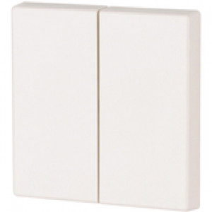 2-fach Wippe blank 55x55 Verkehrsweiß