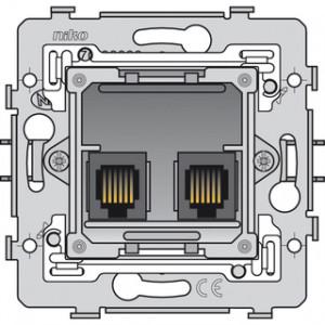 2 x RJ11 UTP, Flachauslass