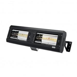 Infrarot Strahler 2 x 1,5 kW schwarz Röhren nebeneinander, ohne Schutzgitter
