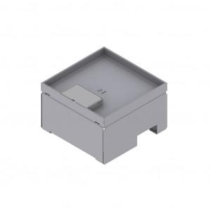 Unterflur-Bodendose 160/160, Chromstahl mit Schnurauslass, Tiefe 15 mm